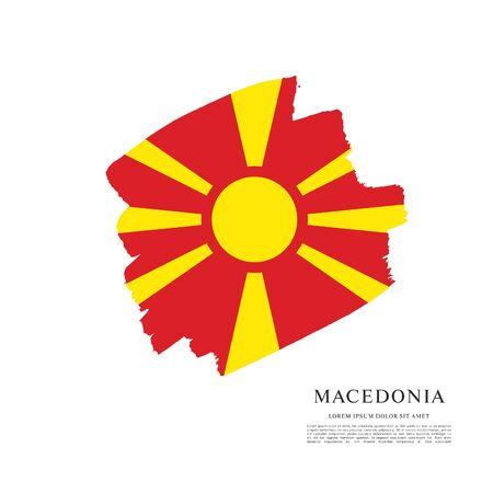 Flag of Macedonia, brush stroke background Standard-Bild - 139721795