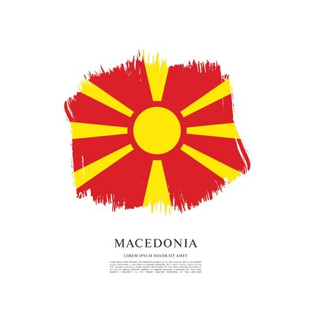 Flag of Macedonia, brush stroke background Standard-Bild - 139721958