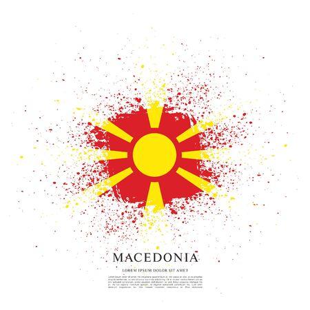Flag of Macedonia, brush stroke background Standard-Bild - 139721864