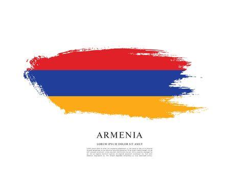 Flag of Armenia, brush stroke background