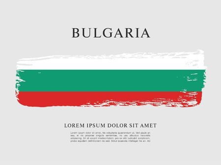 Vector illustration design of Bulgaria flag layout 向量圖像
