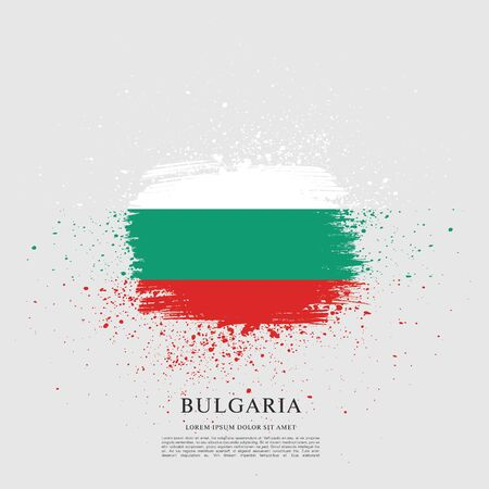 Vector illustration design of Bulgaria flag layout