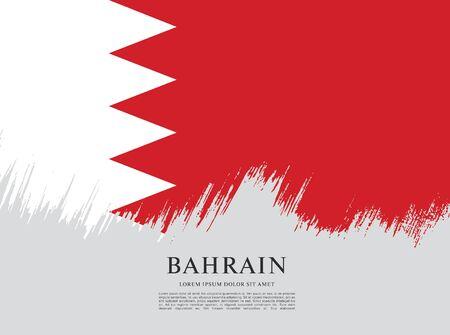Flag of bahrain Vecteurs