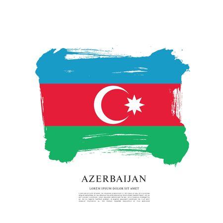 Vlag van Azerbeidzjan Vector Illustratie