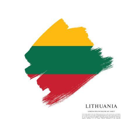 Flag of Lithuania Ilustración de vector