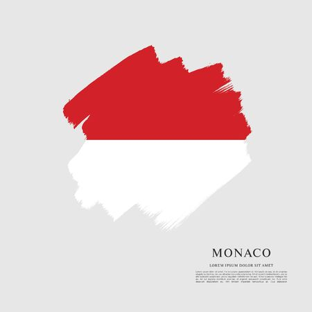 Flag of Monaco, brush stroke background