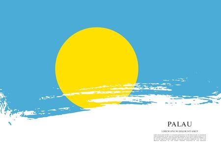 Flag of palau Иллюстрация