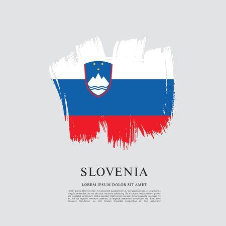 Flag of Slovenia brush stroke background Imagens - 129521228