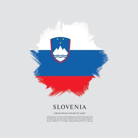 Flag of Slovenia brush stroke background Imagens - 129521229
