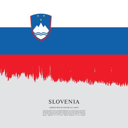 Flag of Slovenia brush stroke background Imagens - 129521233