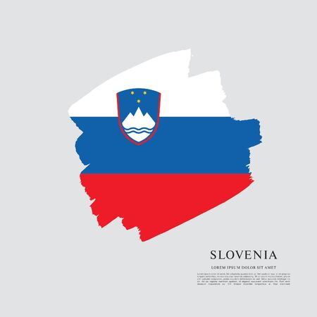 Flag of Slovenia brush stroke background Imagens - 129521329