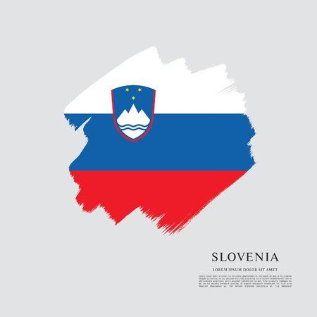 Flag of Slovenia brush stroke background Imagens - 129521324