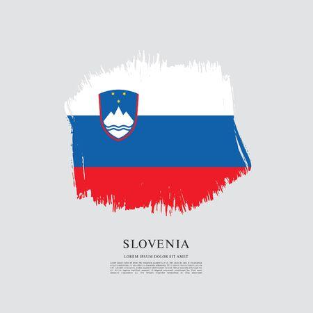 Flag of Slovenia brush stroke background Imagens - 129521332