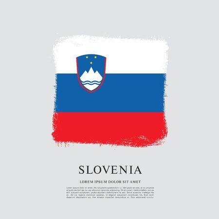 Flag of Slovenia brush stroke background Imagens - 129521330