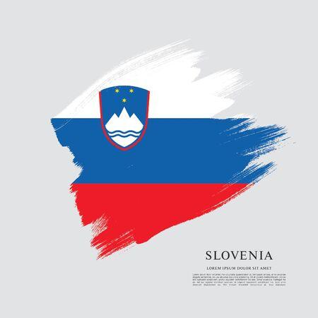 Flag of Slovenia brush stroke background Imagens - 129521339