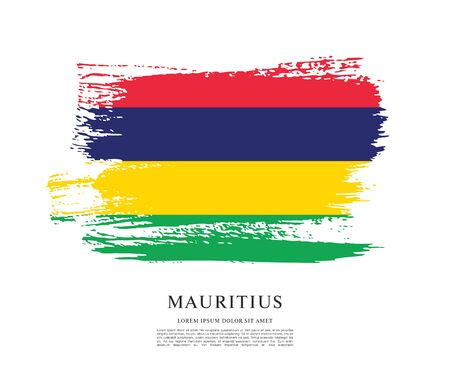 Vector illustration of the flag of Mauritius
