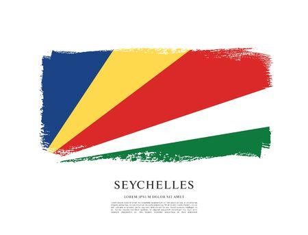 Vector illustration design of seychelles flag
