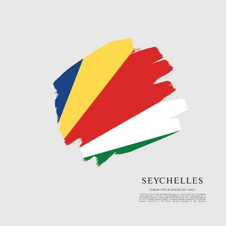 Vector illustration design of seychelles flag 스톡 콘텐츠 - 129932174