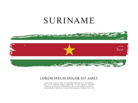 vector illustration of Suriname flag