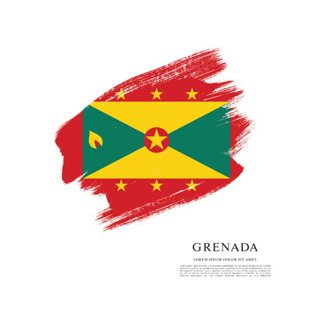 A Vector illustration design of Grenada flag