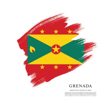 grenada: Vector illustration design of Grenada flag