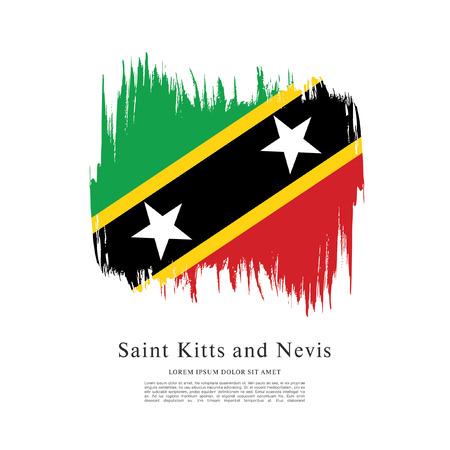 politicians: Vector illustration of Saint Kitts and Nevis flag