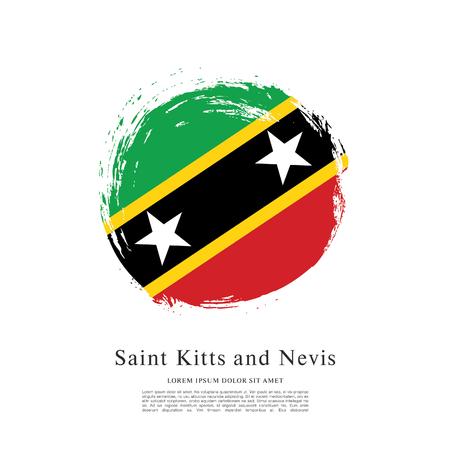 Vector illustration of Saint Kitts and Nevis flag