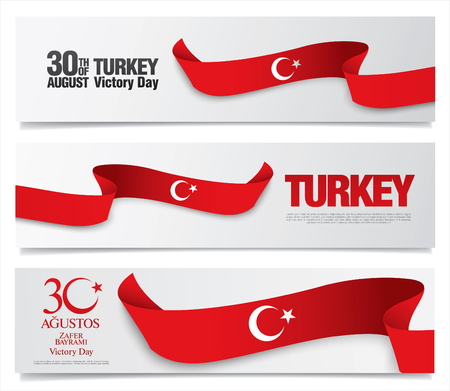 August 30 Victory Day. Translation Turkish inscriptions: August 30 Victory Day Ilustração