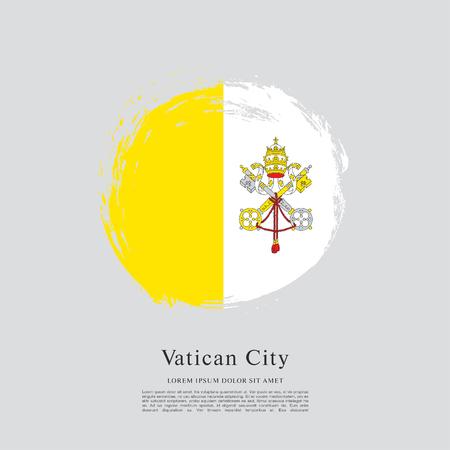 catholicism: Flag of Vatican City Illustration
