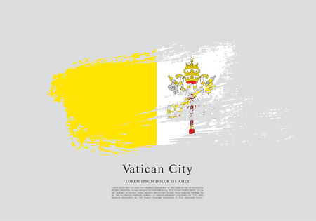 vatican city: Flag of Vatican City Vector illustration.