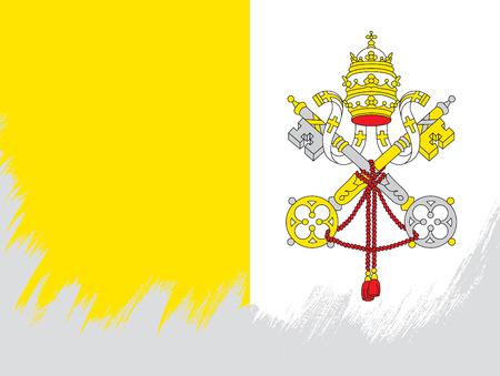 Bandeira da Cidade do Vaticano Foto de archivo - 81957120