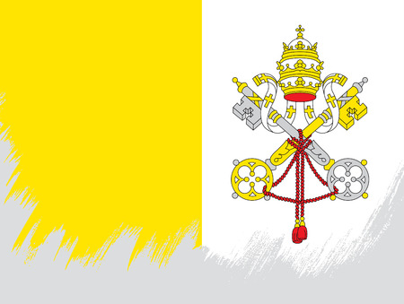 Flag of Vatican City Ilustrace