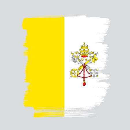 바티칸 시티의 국기 일러스트