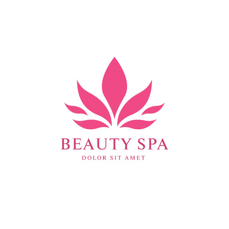 aloe vera plant: Beauty spa logo design Illustration