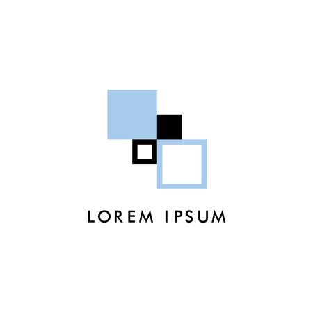Abstract square corporate icon Çizim