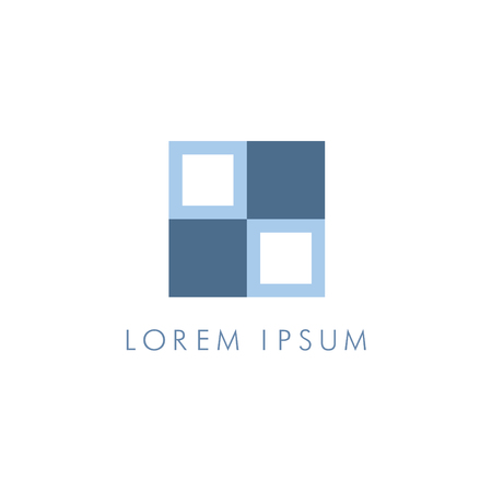 Abstract square corporate icon Illustration