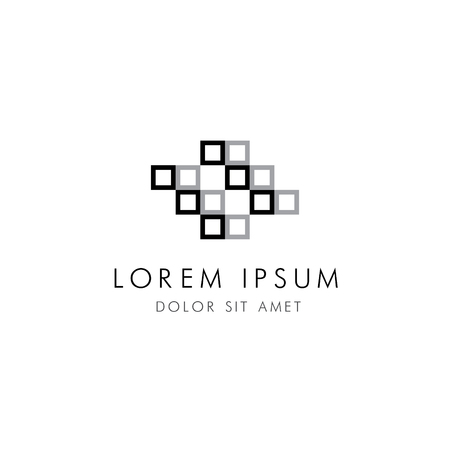 architectural firm: Abstract square color corporate logo