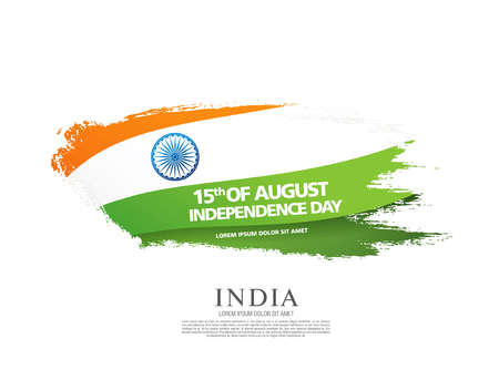 Greeting card for the Independence Day of India. 15 th of August Vector Illustration