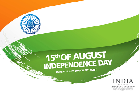 Greeting card for the Independence Day of India. 15 th of August