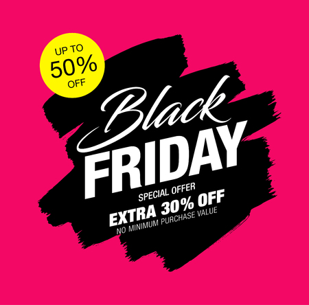 Schwarzer Freitag-Verkaufsfahne
