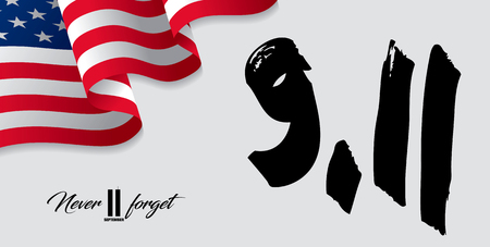 Patriot Day. September, 11. I will never forget Stock Illustratie