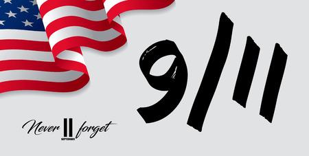 Patriot Day. September, 11. I will never forget Ilustração
