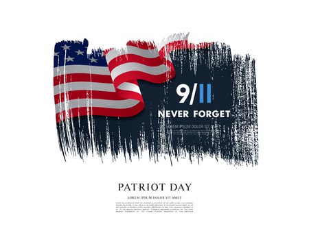 September 11, We will never forget. Vector Illustration