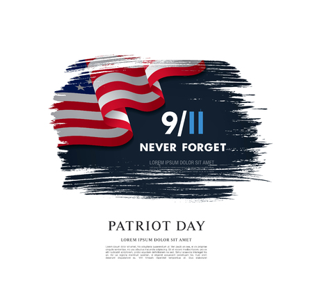 Patriot Day. September, 11. I will never forget Illustration