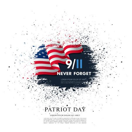 Patriot Day. September, 11. I will never forget Illustration