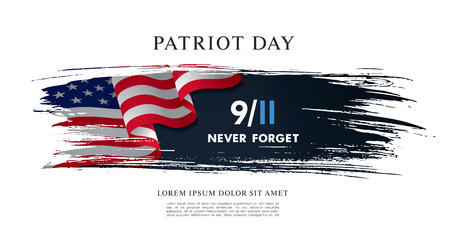 Patriot Day. September, 11. I will never forget vector