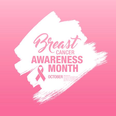 Voorlichtingsmaand van borstkanker. Stock Illustratie