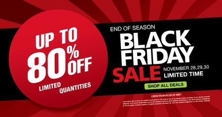 Black friday sale banner layout design Illustration