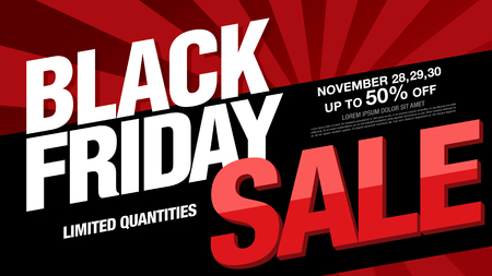 Black friday sale banner layout design Ilustracja