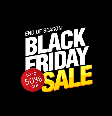 commercial event: Black friday sale banner layout design Illustration